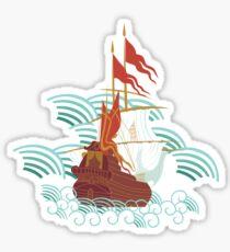 Ottoman Ship 2 Sticker