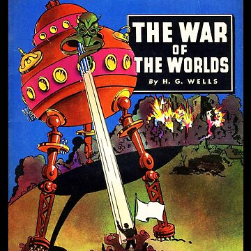 War of the Worlds H.G. Wells Book Cover Illustration by buythebook86