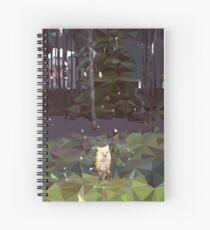 Daisy - v1 Low Poly  Spiral Notebook