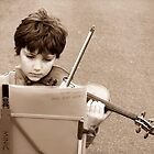 A Little, Great Violin Player by Angelika  Vogel