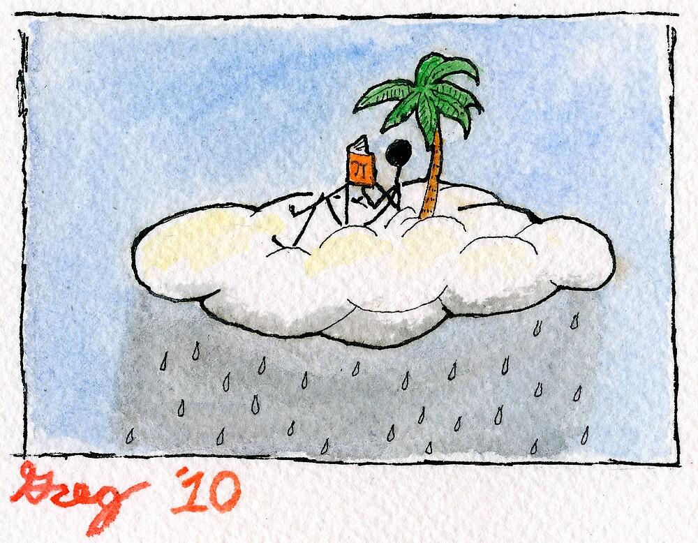 rainy day reading. by DOBART