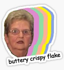 Buttery Crispy Flake Sticker