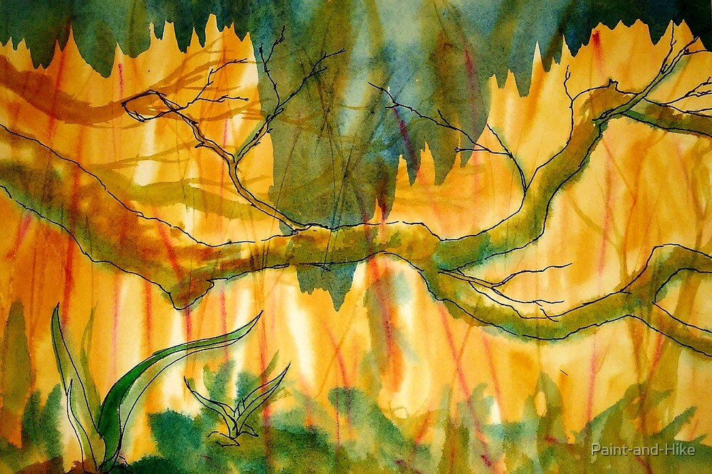 Low Hanging Branch at Minnesota Landscape Arboretum by Paint-and-Hike