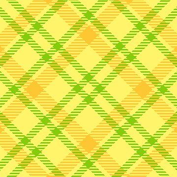 summer lemon yellow green NEON Tartan PLAID by Yanwun