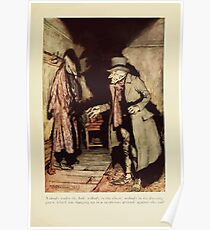 A Christmas Carol by Charles Dickens art by Arthur Rackham 1915 0041 Nobody Under The Bed Poster