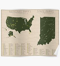US National Parks - Indiana Poster
