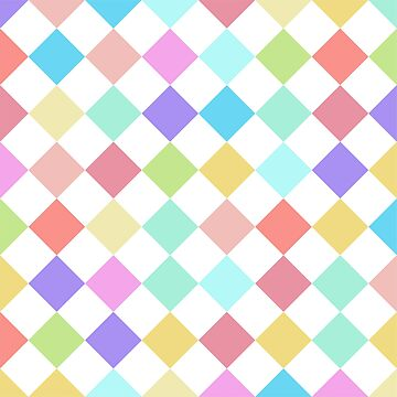 colorful pastel check pattern candy joker, clown by Yanwun