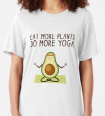 Eat More Plants Do More Yoga Slim Fit T-Shirt