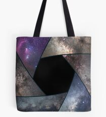 Astrophotography collage. Shutter collage Universe. Space Astronomy  Long exposure photography. Tote Bag
