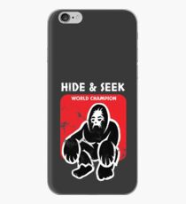 funny Hide and seek world champion, Bigfoot birthday hiker T-Shirt iPhone Case