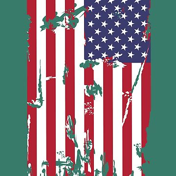 USA Flag - vertical  by denip