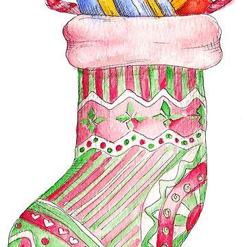 christmas sock by lisenok