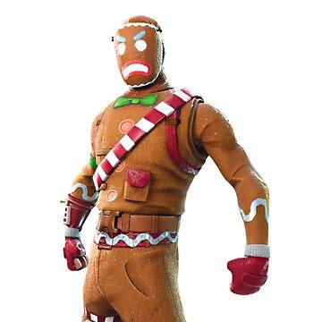 Merry Marauder - Fortnite - Gingerbread Man by Connorlikepie