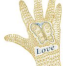 Butterfly & Love Hand by KazM