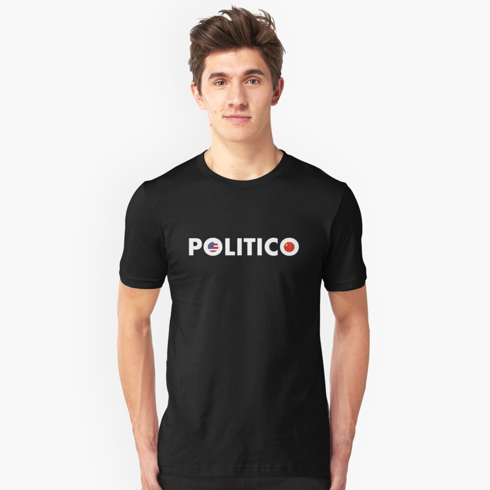 Politico White Slim Fit T-Shirt