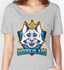 Wonderland- Cheshire cat, turquoise Women's Relaxed Fit T-Shirt