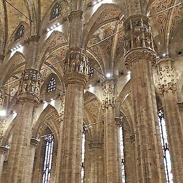 Milan. Duomo interior. by terezadelpilar