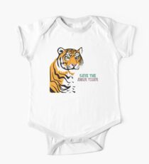 Save the Amur Tiger One Piece - Short Sleeve