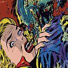 Zombie Kiss Vintage Horror Creepy Comic Pop Art by thespottydogg