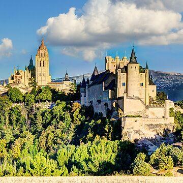 Segovia Alcazar Castle from afar by WWestmoreland