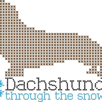 Dachshund through the snow by BlooMoo