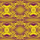 Newton Raphson Fractal Seamless Pattern IX (yellow/purple) by shane22