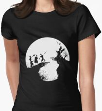 History of death Black and white Women's Fitted T-Shirt
