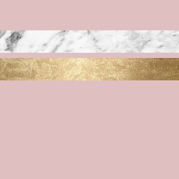 Dusky rose golden marble  by marbleco