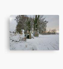 Snow Scene Yelverton, Dartmoor Canvas Print