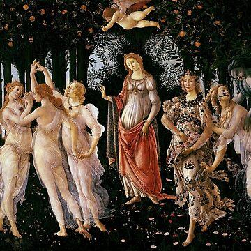 Vintage Sandro Botticelli Primavera 1482 by AllVintageArt