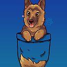 Pocket Cute German Shepherd Alsatian Dog by TechraNova