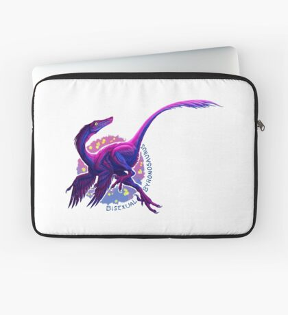 Bisexual Byronosaurus (with text)  Laptop Sleeve