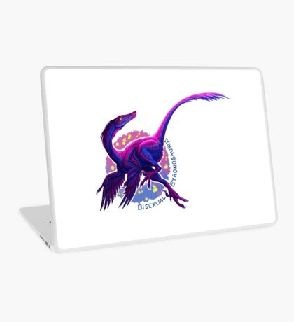 Bisexual Byronosaurus (with text)  Laptop Skin