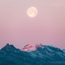 Moon and the Mountains – Landscape Photography  by Michael Schauer