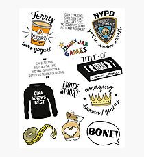 Brooklyn Nine Nine TV Show Art Photographic Print