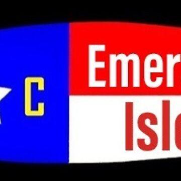 Emerald Isle NC surfboard sticker  by barryknauff