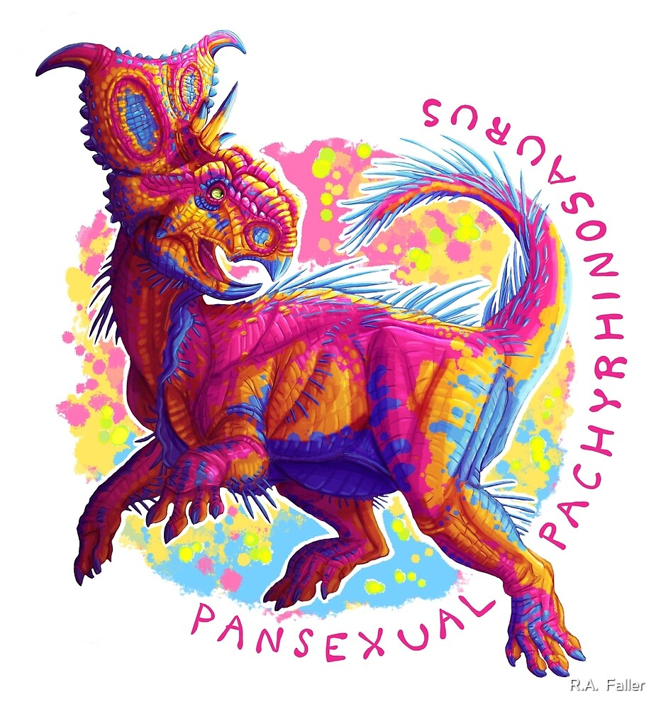 Pansexual Pachyrhinosaurus (with text)  by R.A.  Faller