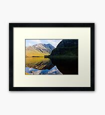Colours In The Black Loch Framed Print
