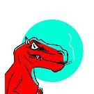 «Smoking Dino» de plieguito