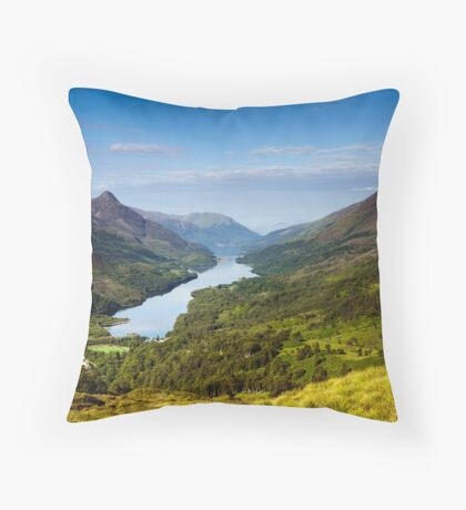 Kinlochleven and The Pap Of Glencoe Throw Pillow