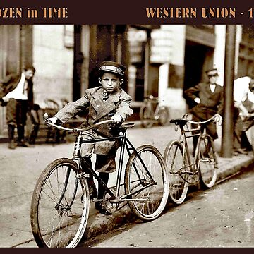 WESTERN UNION : Vintage 1907 Frozen in Time Advertising Print by posterbobs