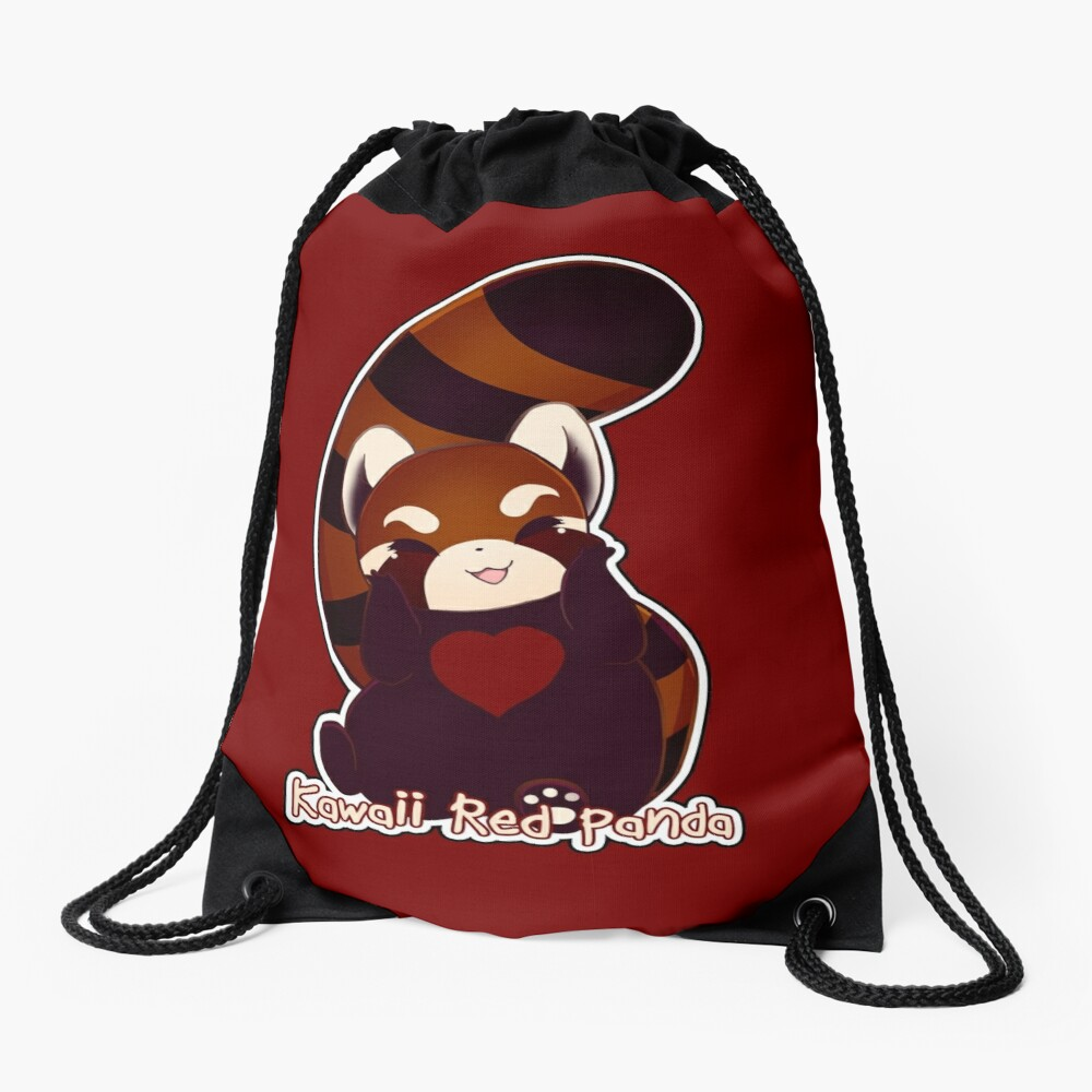 Kawaii Red Panda Drawstring Bag