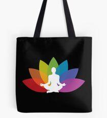 Yoga lotus flower white Tote Bag