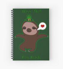 Kiss Me! I'm Irish Spiral Notebook