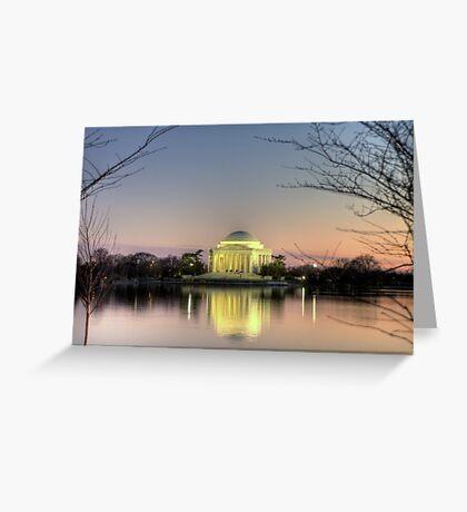 Jefferson Memorial at Dusk Greeting Card
