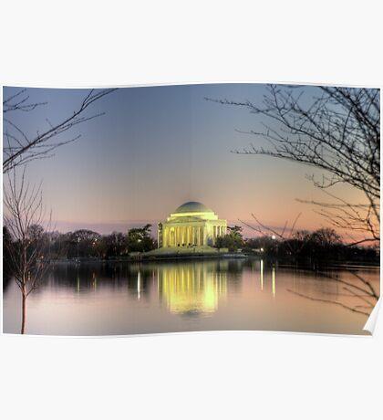 Jefferson Memorial at Dusk Poster