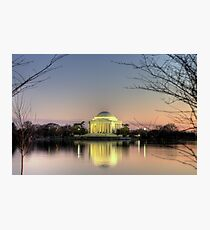 Jefferson Memorial at Dusk Photographic Print
