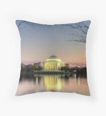 Jefferson Memorial at Dusk Throw Pillow