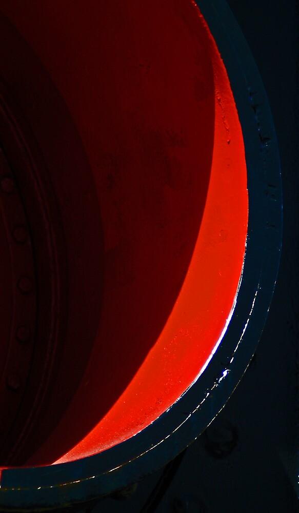 Slice of red by Elizabeth McPhee