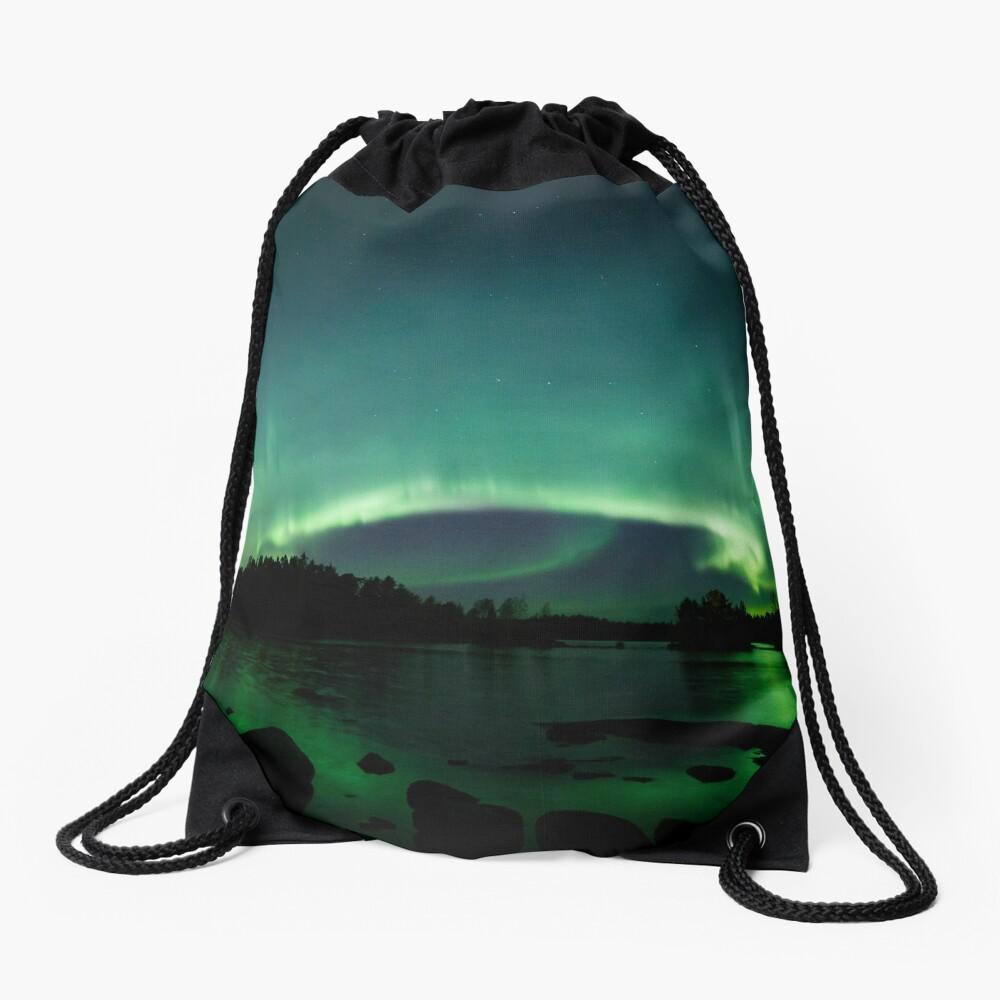 Wunderschöne Nordlichter über dem See Turnbeutel